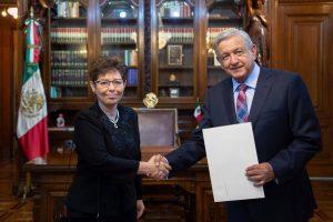 AMLO recibió a embajadores, entre ellos al de Venezuela