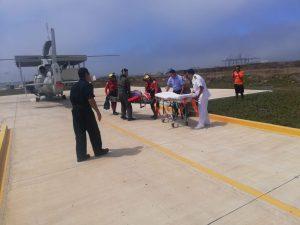 SEMAR realizó evacuación médica de persona a bordo de Buque Pesquero en BC