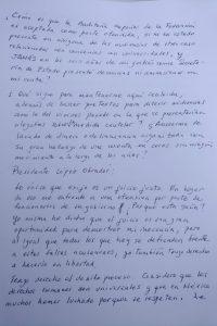 Carta de Rosario Robles Foto: Internet